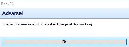 Bookpc advarsel 5 min