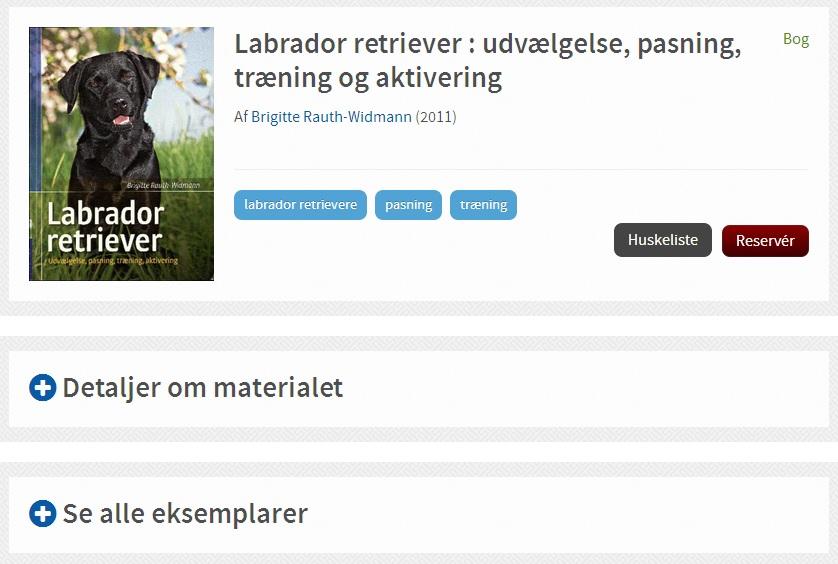 Labrador med Detaljer og Se alle eksemplarer