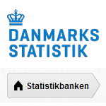 Statistikbanken ® indeholder i detaljeret form officiel statistik, som beskriver det danske samfund. Den er gratis at bruge og data kan gemmes i mange filformater og vises som diagrammer eller landkort